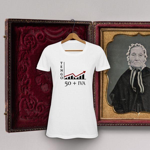 camiseta 50 + iva