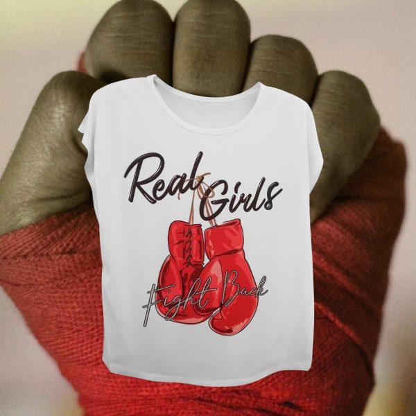 Camiseta de diseño. Real Girls.