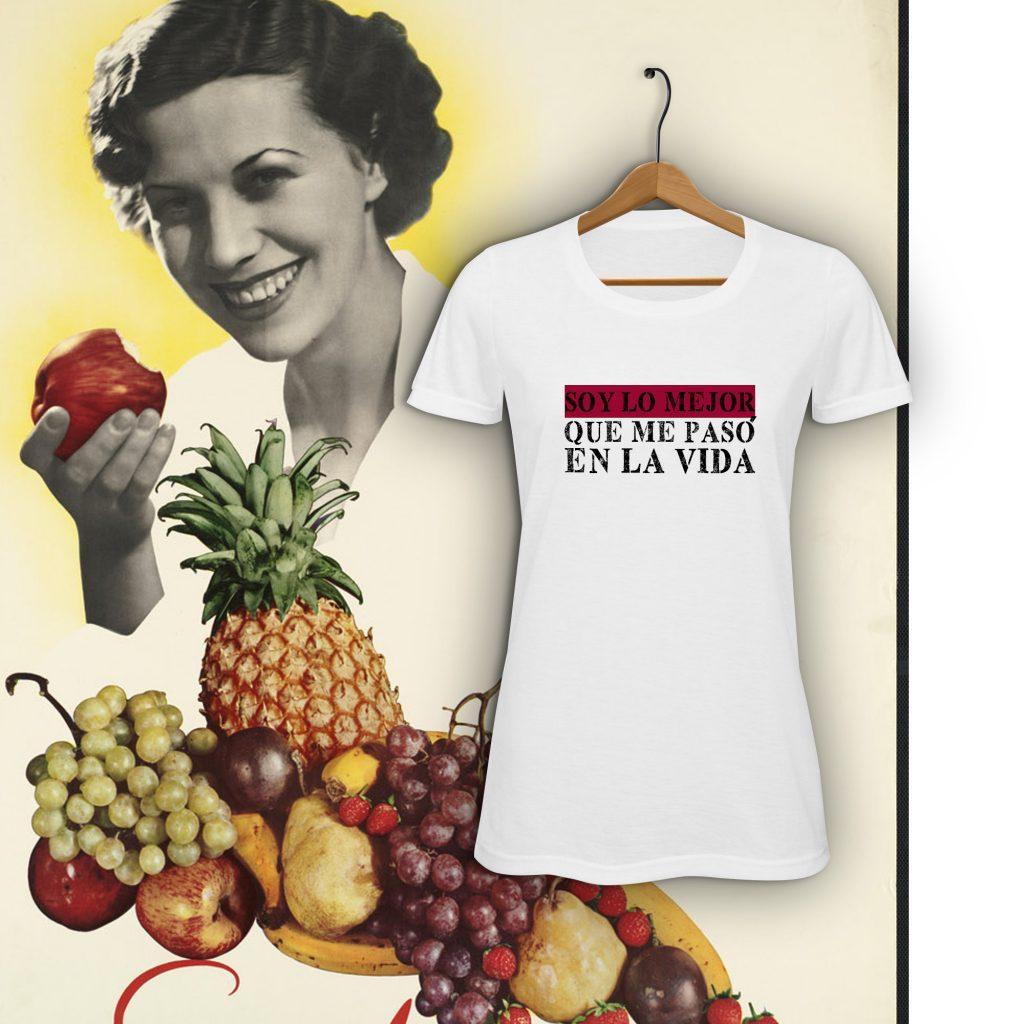 Camiseta con diseño exclusivo de Viejenials Soy lo Mejor que me pasó en la vida - tienda solidaria